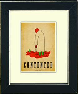 Image of framed print of original hand illustrated art - for contented - for Jean Cocteau