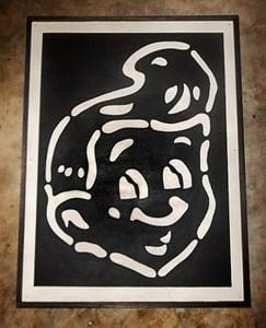 Image of SHT! Head Black on Wood