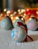 Marbled Ornaments - Cheer