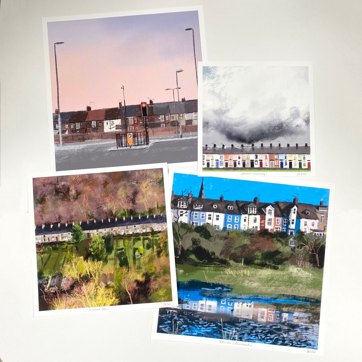 Image of 'Houses (Burnley)' Archive Quality Print