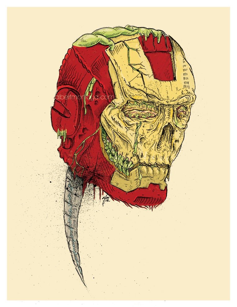 Image of 'The Death of Iron' Man Print