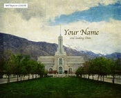 Image of Mt Timpanogos Utah LDS Mormon Temple Art 001 - Personalized LDS Temple Art