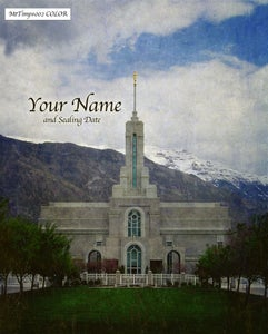 Image of Mt Timpanogos Utah LDS Mormon Temple Art 002 - Personalized LDS Temple Art