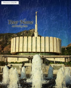 Image of Provo LDS Mormon Temple Art 002-Personalized Temple Art