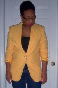 "Image of Yellow ""Savannah"" Blazer sz 8P"