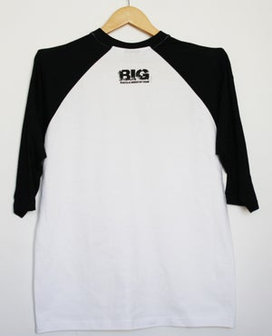 Image of 3/4 BASEBALL TEES-BLACKOUT-FRONT