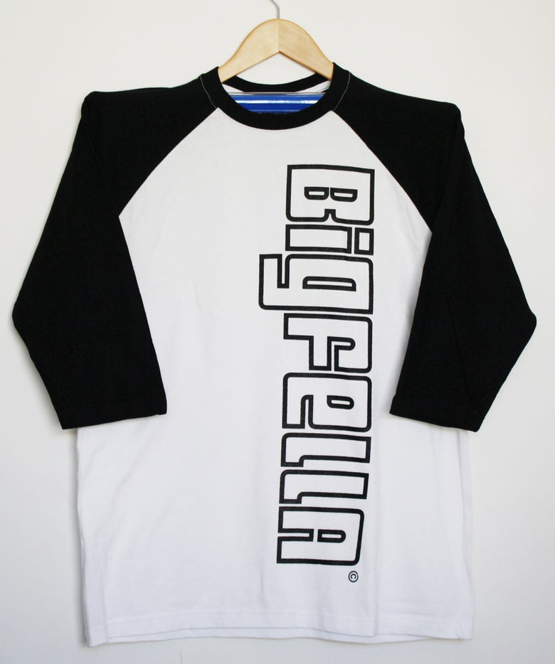 Image of 3/4 BASEBALL TEES-BLACKOUT-SIDE