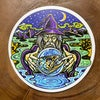 Trout Wizard With Crystal Ball Weatherproof Vinyl Sticker