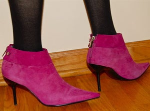 Image of BCBG Suede Pink Booties Brand New