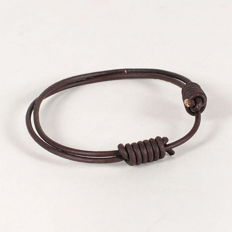 Image of Round Leather Bracelet - Twin Pack
