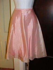 Image of BN RALPH LAUREN Pink Nylon/Silk Skirt Sz 12