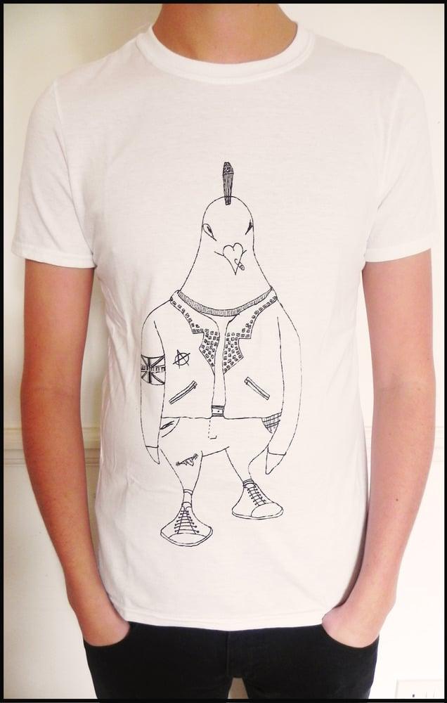 Image of Mens Camden Punk Pigeon T-shirt