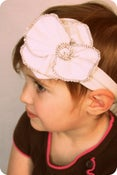 Image of The Serger // Fun and Soft Creamy White Flower Material Stretchy Headband // Casual and Cute