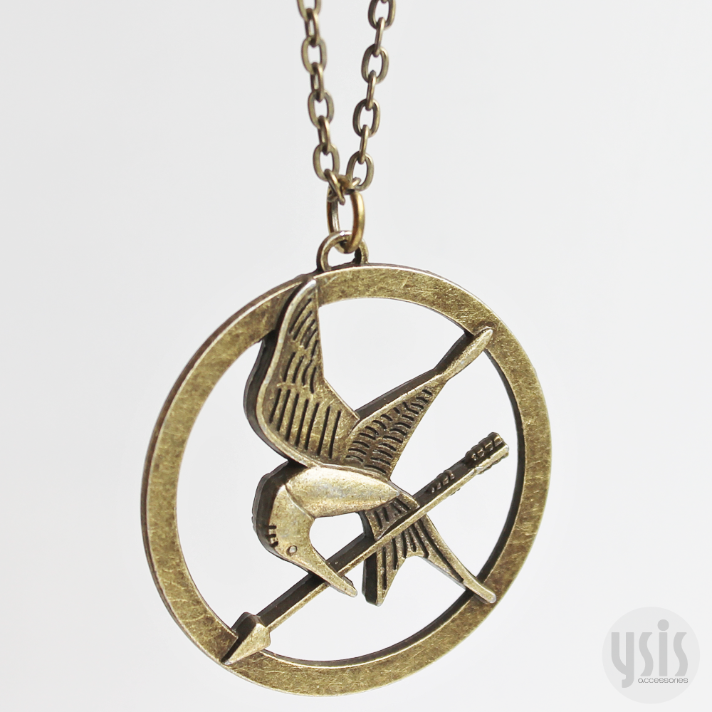 Ysis accessories the hunger games mockingjay necklace image of the hunger games mockingjay necklace aloadofball Images