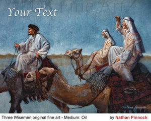 Image of Wise Men Fine Art by Nathan Pinnock - LDS Oil Painting
