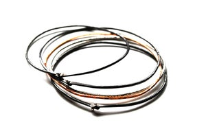 Image of Bangle bracelets mixed metal
