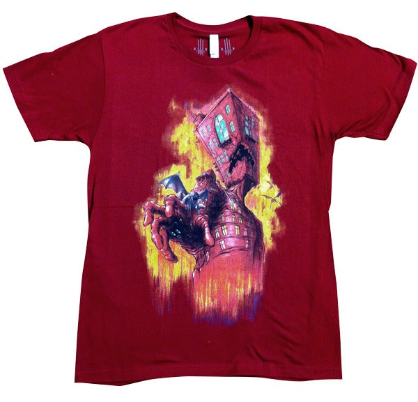 Image of The Breathing Architecture Cranberry   By Alex Pardee    T Shirt