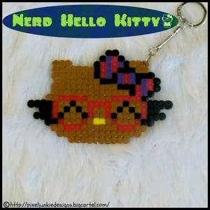 Image of Nerd Hello Kitty Keychain