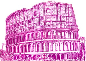 Image of Example Print - 'The Colosseum' Rome - Sketchbook Drawing