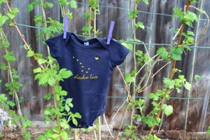 Image of One-piece- Navy- Short Sleeve