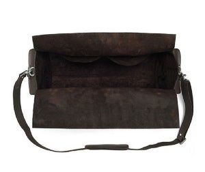 Image of Vintage Handmade Antique Crazy Horse Leather Travel Bag / Tote / Messenger / Duffle Bag (n74)
