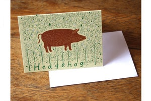 Image of Hedgehog greetings card