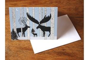 Image of Strange deer greetings card