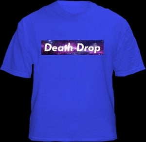 Image of Death Drop Galaxy Box Logo Blue Shirt