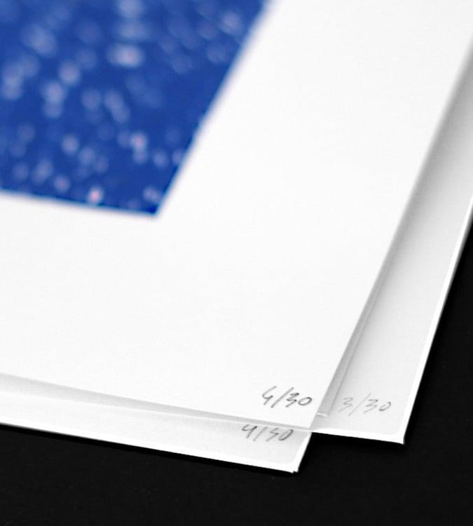 Image of Blue Dot Silkscreen Print