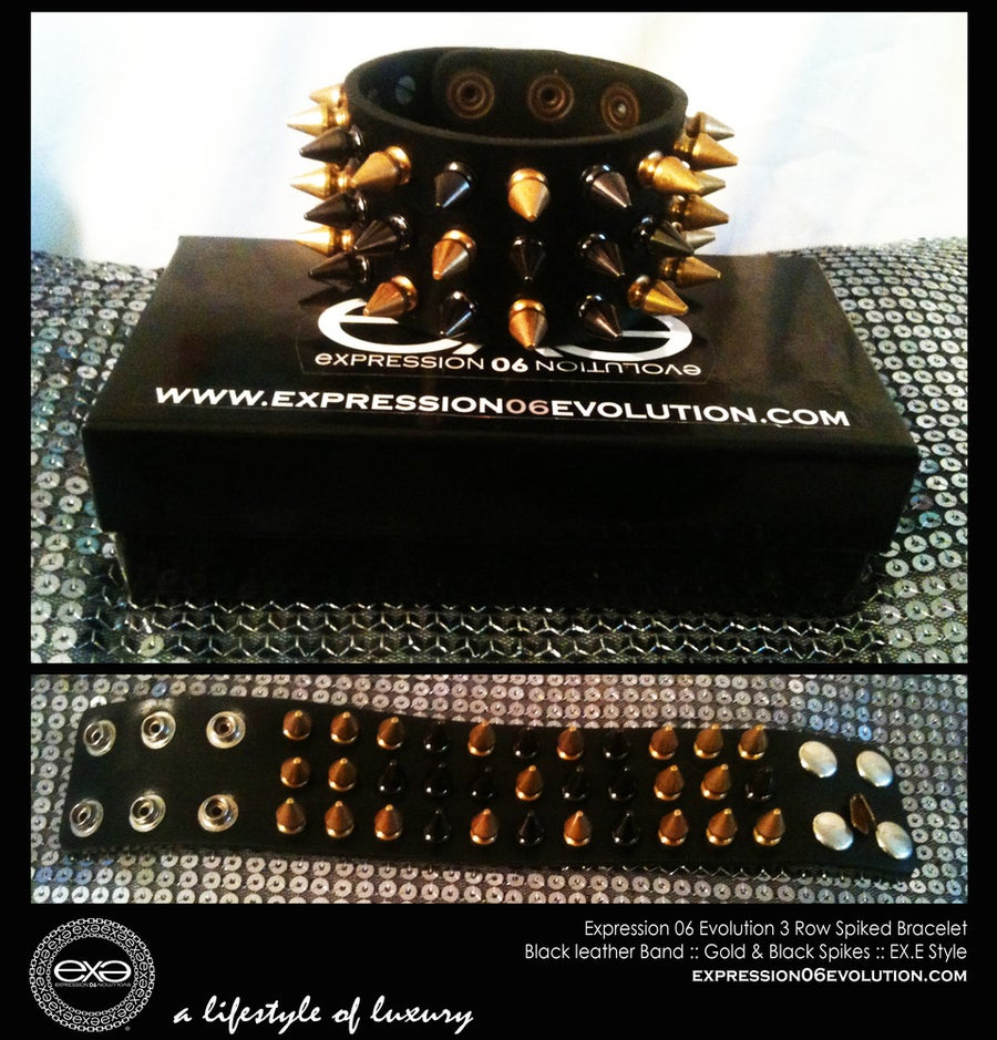 Image of EXPRESSION 06 EVOLUTION /  SPIKED BRACELET / 3 ROW