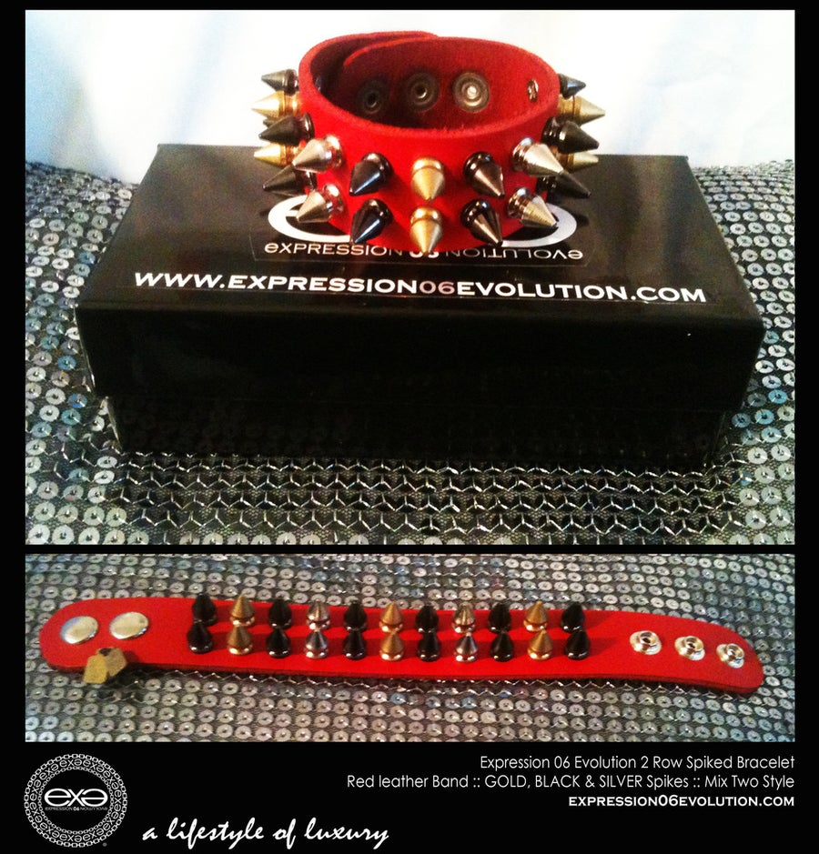 Image of EXPRESSION 06 EVOLUTION /  SPIKED BRACELET / 2 ROW SPIKE BRACELETS