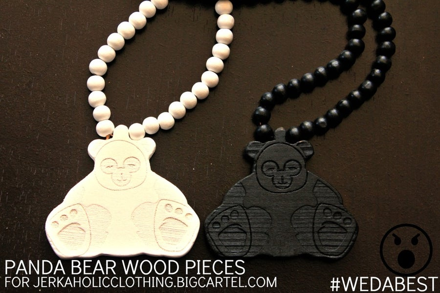 Image of PANDA BEAR WOOD PIECES EXCLUSIVE FOR @JERKAHOLICGEAR