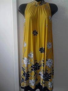 Image of B & Lu Yellow Tie Neck Dress sz 2x