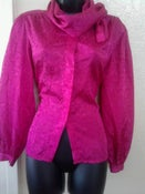 Image of Hot Pink Vintage Blouse Sz 5 Small
