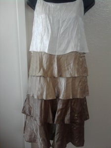 Image of Robbi Bee Silk Tier Dress Sz 16 Brand New