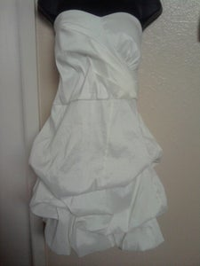 Image of Brand New All White Pickup Short Dress sz 18