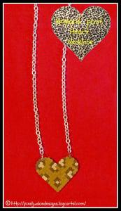 Image of leopard print heart