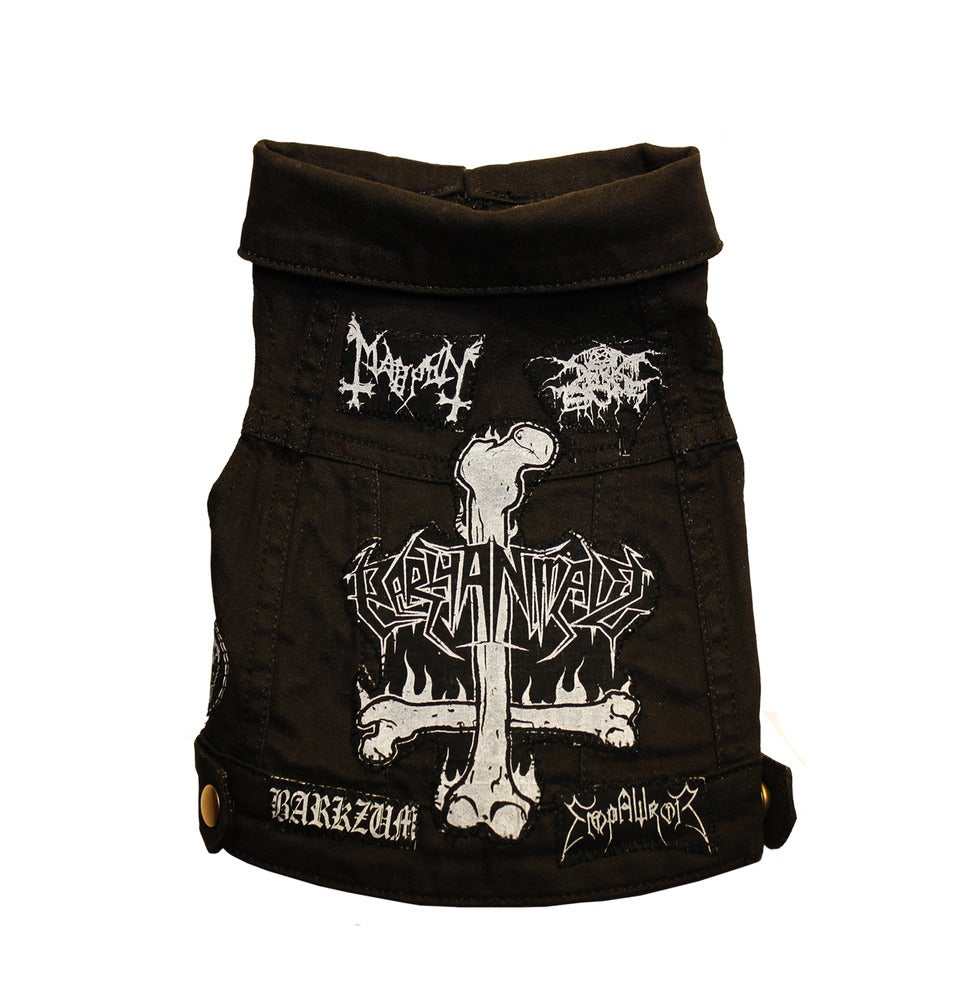 Image of Black Metal Dog Vest