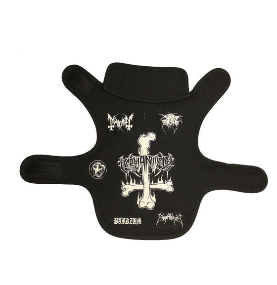Image of Black Metal Dog Warmer