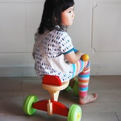 Image of Cotton-linen Reversible Apron (kids)  /�童棉麻兩�穿�裙 (code: 063)