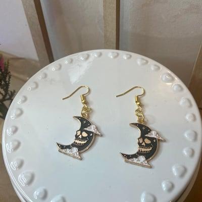 Image of Black Moon Earrings