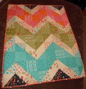 Image of Chunky Chevron Baby Quilt PDF Pattern