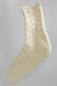 Image of Handmade women's socks - full pattern