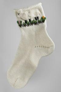 Image of Handmade women's socks - with sheeps