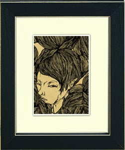 Image of framed print of original hand illustrated art - untitled