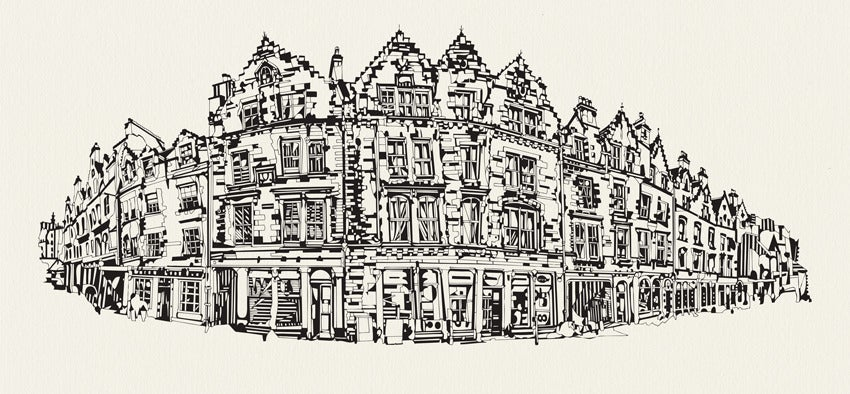 Image of Grassmarket, Edinburgh screen print