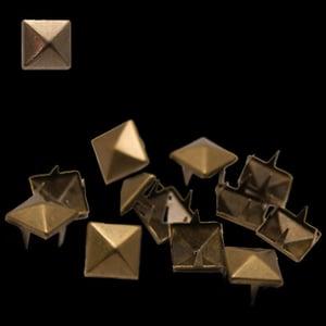 Image of Spike carré griffe cuivré