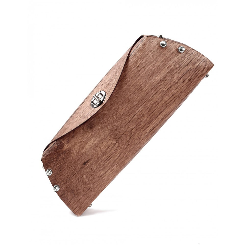 Image of Wood Clutch Bag