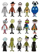 Image of Mini-Villains Sticker Pack (Series 1)