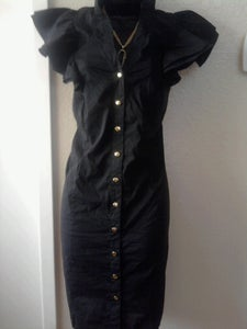 Image of Baby Phat Black Ruffle Sleeve Dress 1X
